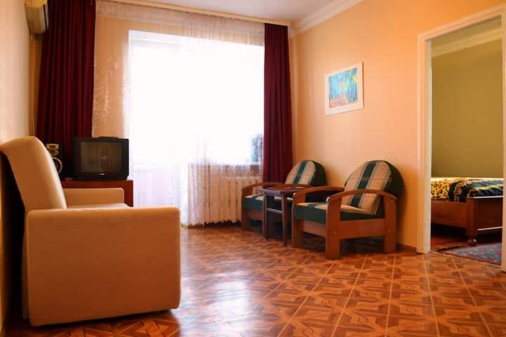 Первый дом от арки курорта! 2комн., 2 этаж, WIFI