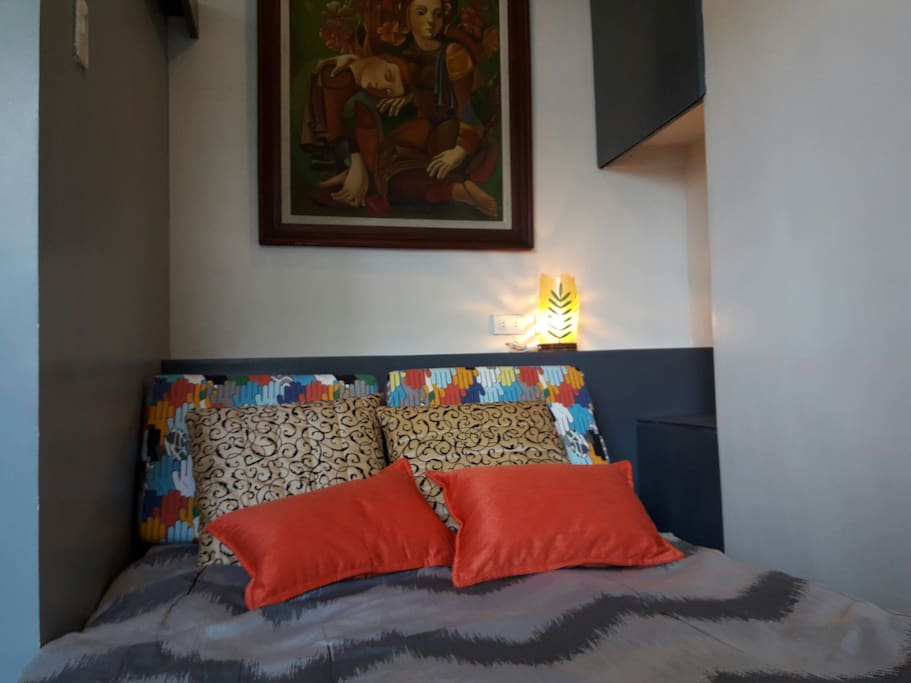 Bedroom with double sized bed ideal for couple