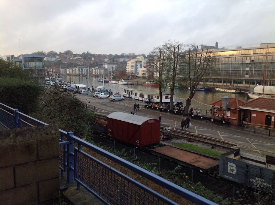 Views of Cliftonwood and steam train.