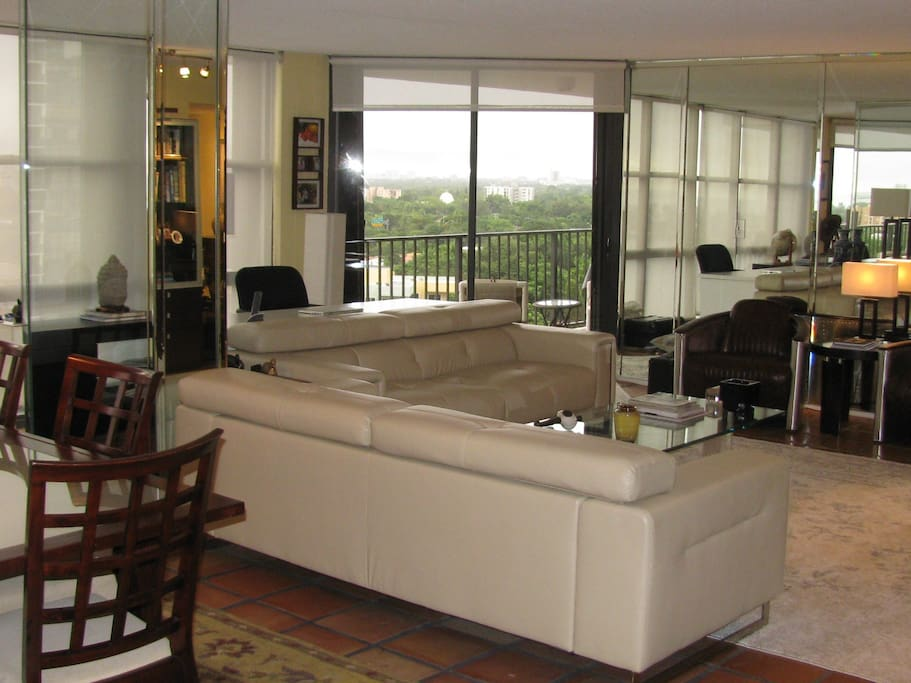 View 2: Living room and dining room