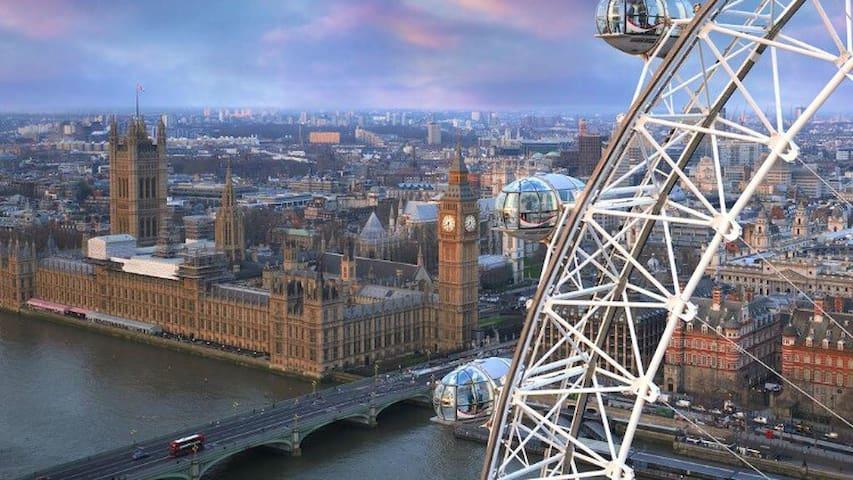 Desirable location, 1-min walk from London Eye!