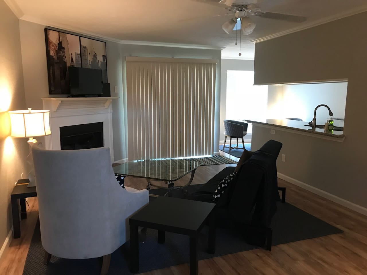 Living/Dining and kitchen