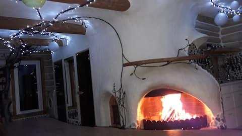 Дом для отдыха в оригинальном стиле