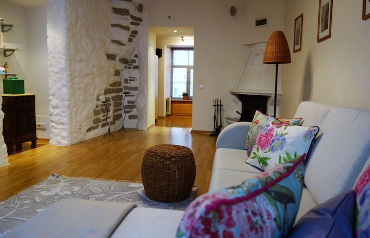 Old Town, Historic 72m2, fireplace and Jacuzzi. - Tallinn - Lägenhet