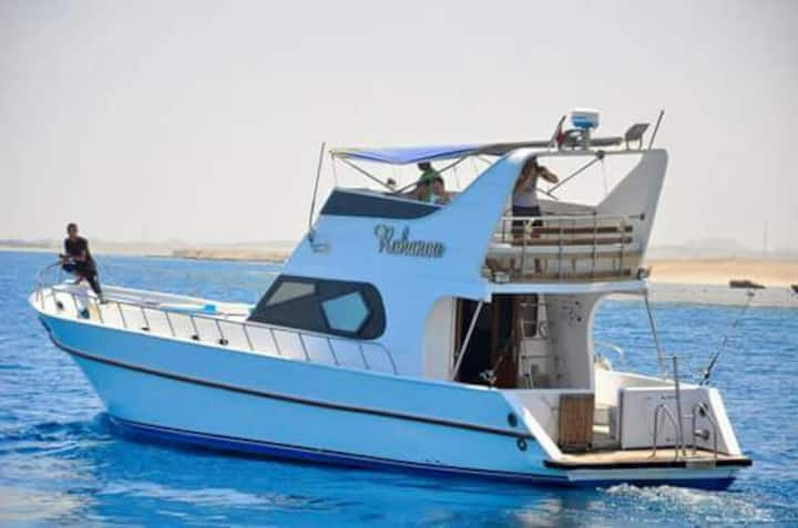 Hurghada Boat for 9 Guest, Rohanu Boat