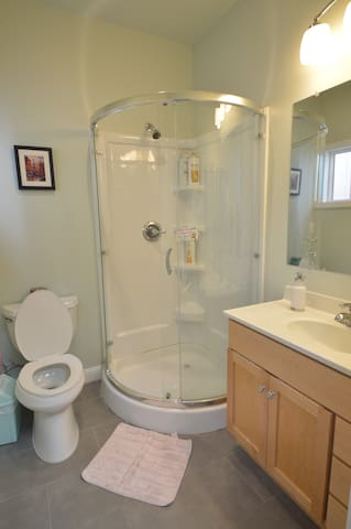Shared bathroom with owner