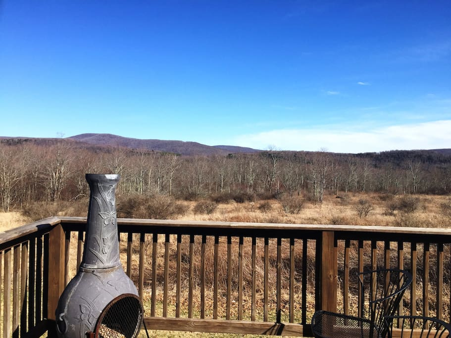 Stunning Springtime views from the deck