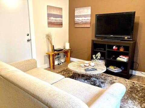 Cozy, private downtown west suite