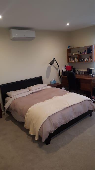 Upstairs queensize bed