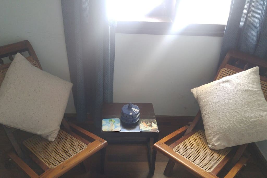 Sitting area by the window