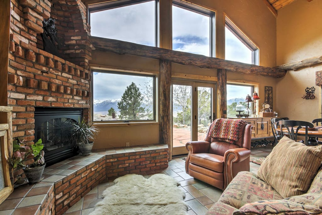 Situated on 5 private acres, enjoy uninterrupted views of the Rocky Mountains and Collegiate Peaks!