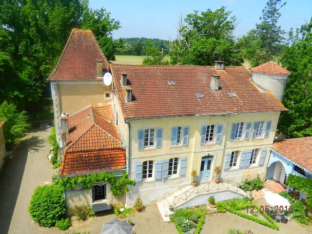 Elegant suite within Chateau - Sainte-Colombe - B&B