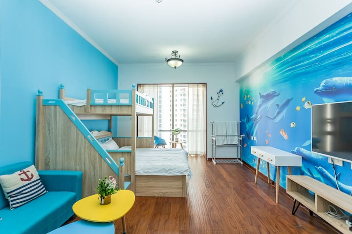 heart of qingdao - bunk beds  - the whole apt