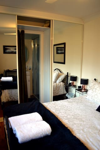 Ensuite off main bedroom includes shower, vanity, basin and toilet. Shampoo, conditioner and shower wash supplied