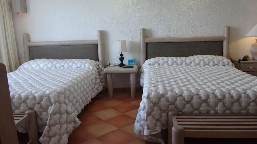 Two full beds