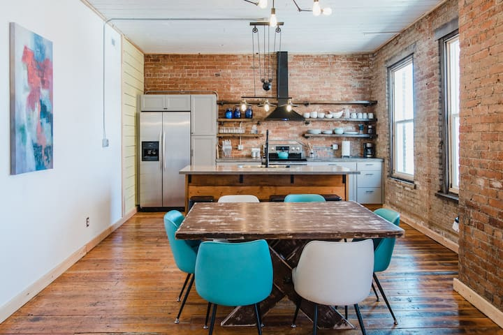 Urban Industrial Loft in Uptown Butte