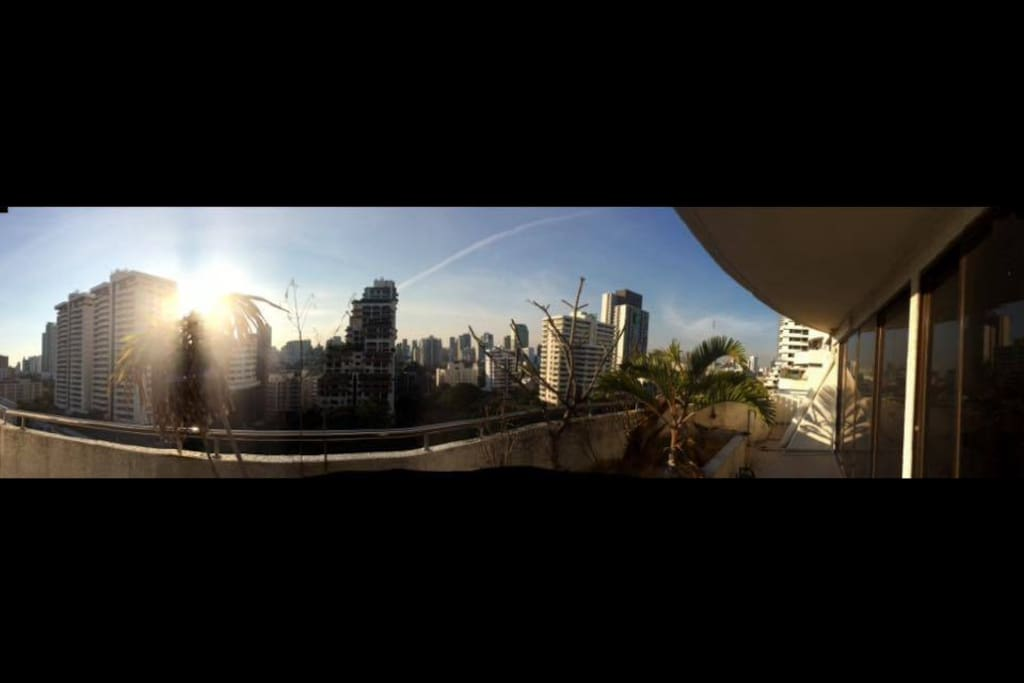 Panoramic View at the Balcony