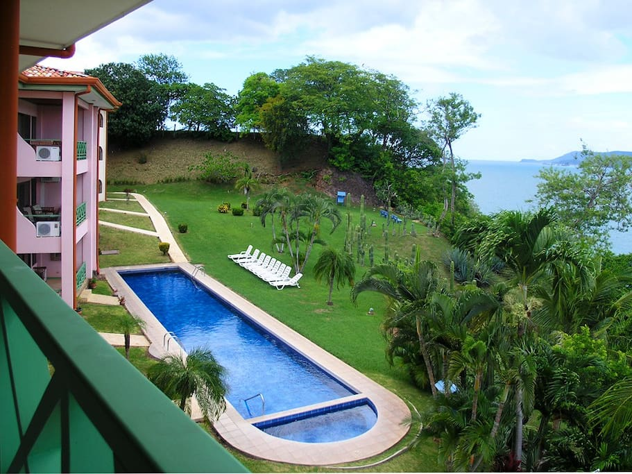 View of private pool area.