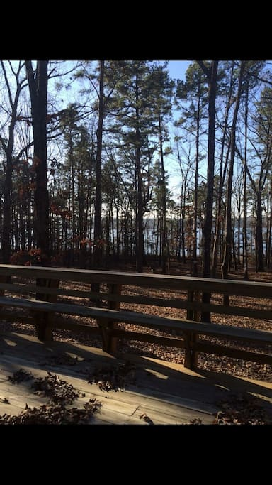 Lake view from the deck!