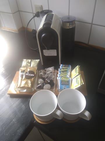 Free coffee and Tea.