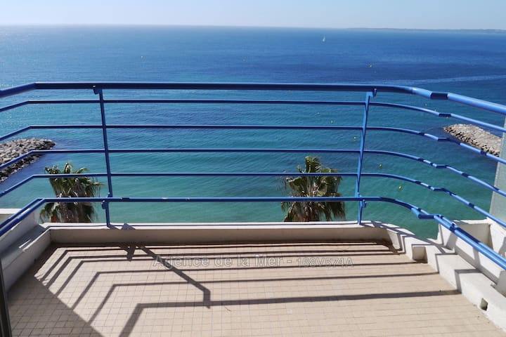 Seafront, panoramic view, 8th and last floor - Antibes - Apartamento