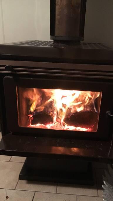 Roaring fire!
