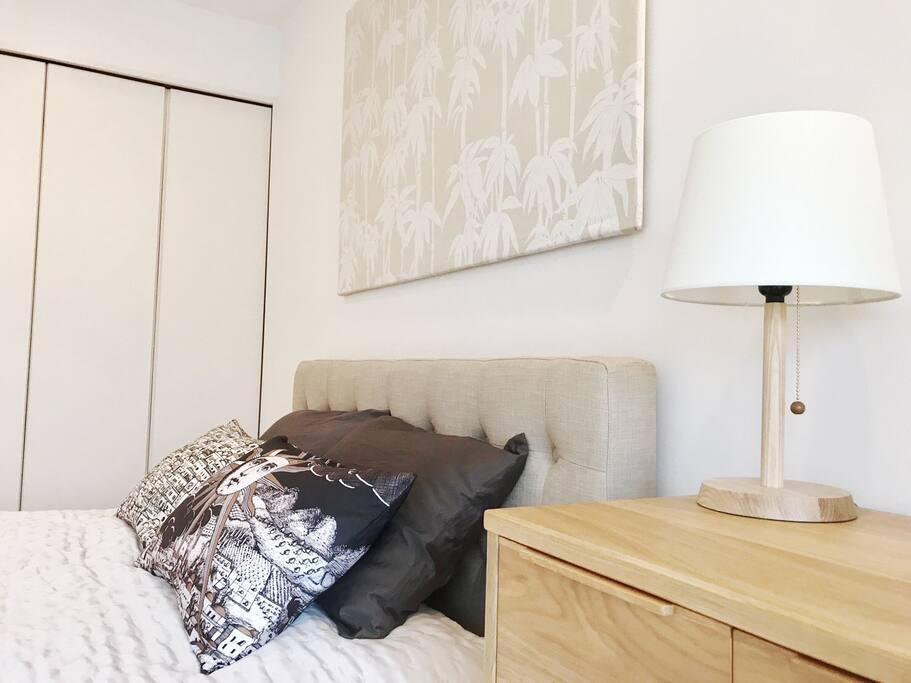 Full size closet in master bedroom