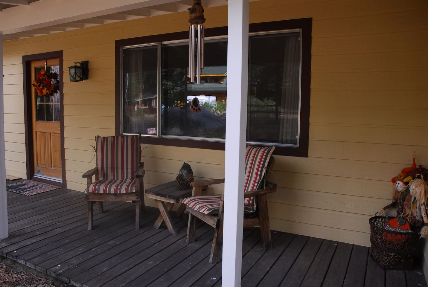 Enjoy the surroundings on the front porch