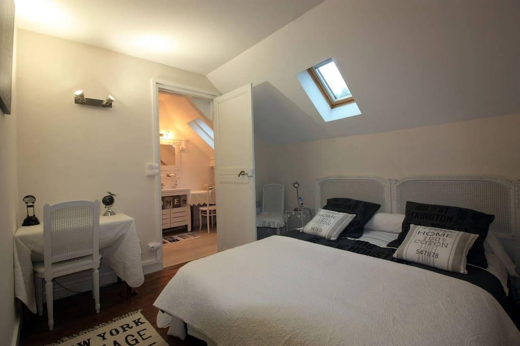 chambre avec salle de bain privée