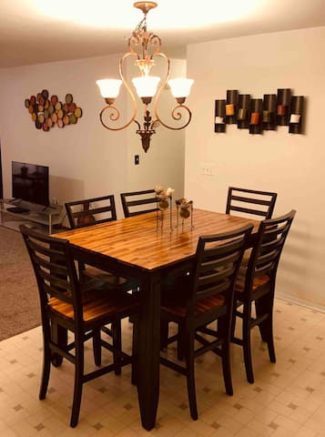 Very nice solid wood high top kitchen table