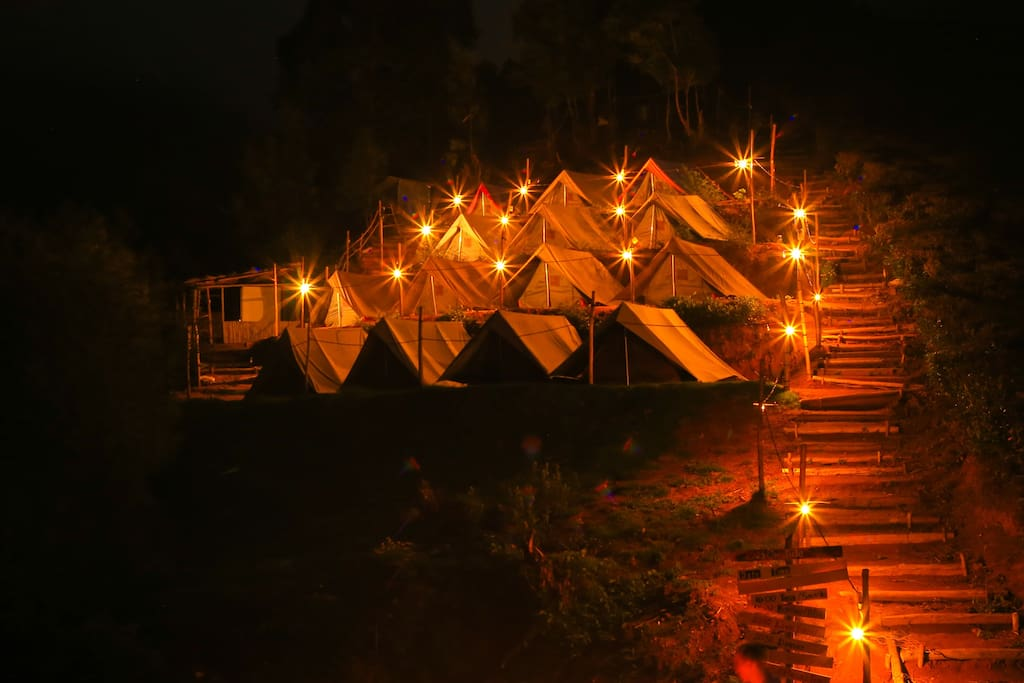 NIGHT  VIEW  OF  CAMP