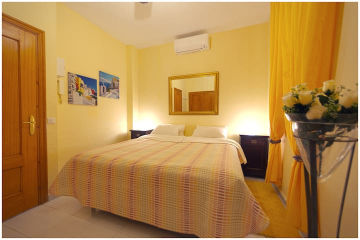 Airconditioned bedroom.