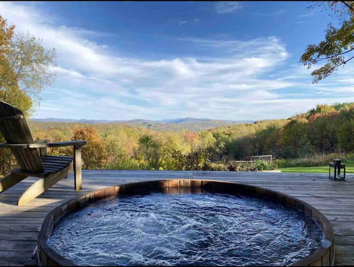 Catskills Barn on 34 acre Estate   stunning views