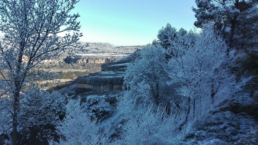 Nieve en la hoz del Jucar