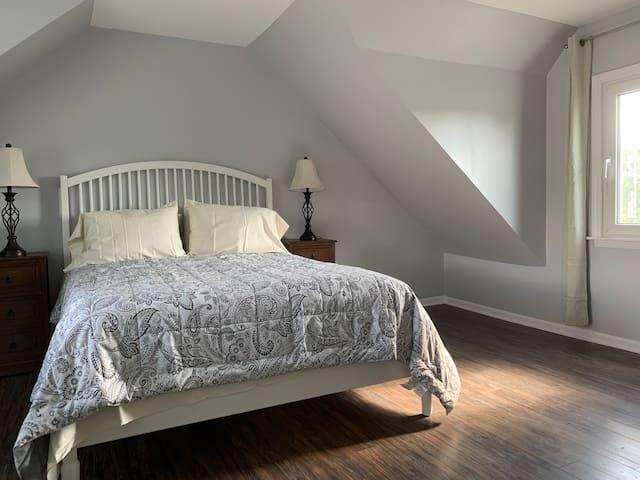 Master bedroom on second floor