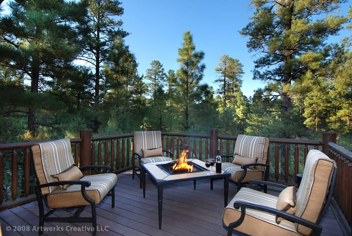Peaceful Cabin with privacy, extended deck and Torreon amenities - Show Low - Cabin
