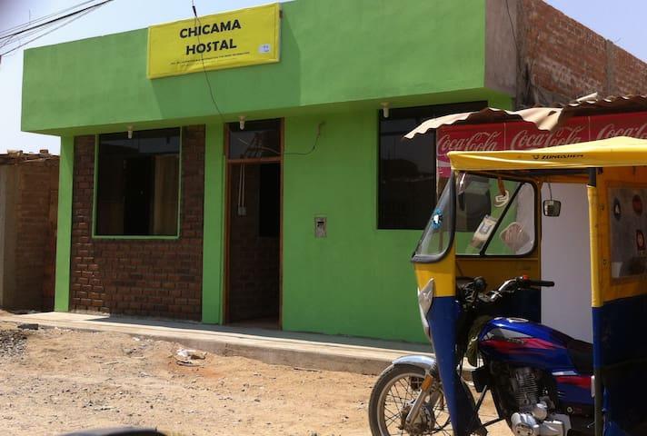 CHICAMA HOSTAL#104 2 DBLE BEDS/4 PERSON &priv bath