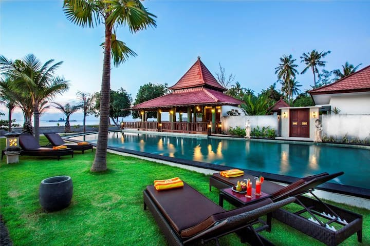 Beach Front Hotel at Lovina Beach North Bali
