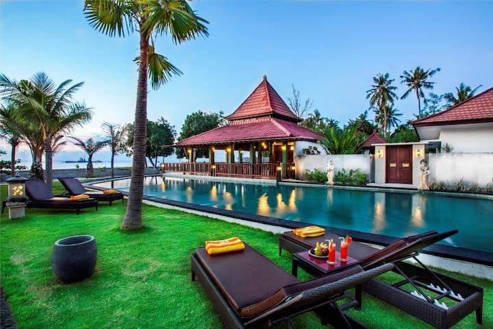 Beach Front Hotel at Lovina Beach North Bali