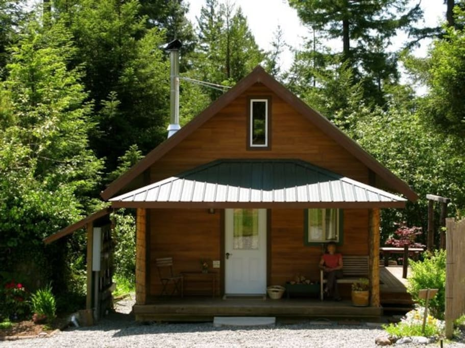 Cozy cabin in the redwoods cabins for rent in arcata for Cozy cabins rentals