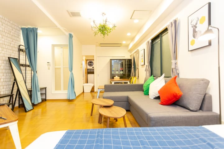 【Minn East-shinsaibashi 101】Free-wifi/comfy Room