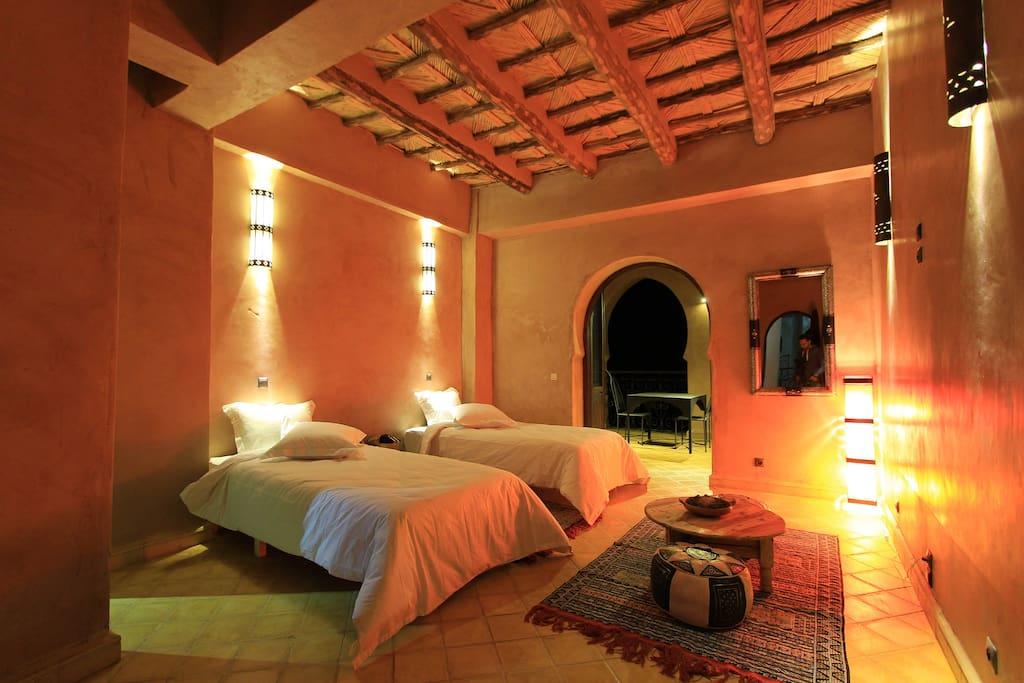 La chambre en configuration twin