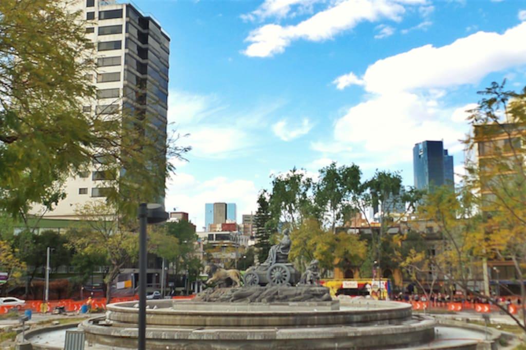 En la Plaza de la Cibeles donde encontraras las mejores opciones para comer y  disfrutar de un agradable rato.