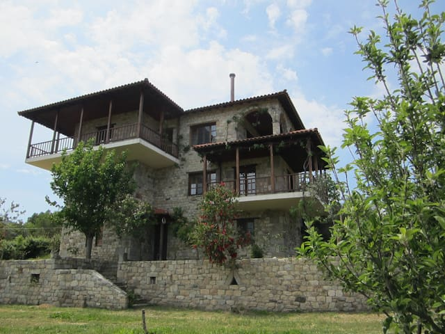 First floor apartment with mount Athos view - Sikia - Leilighet