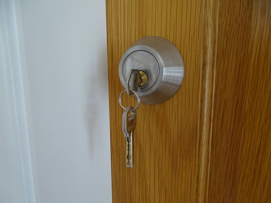 Everything in your room under lock and key.