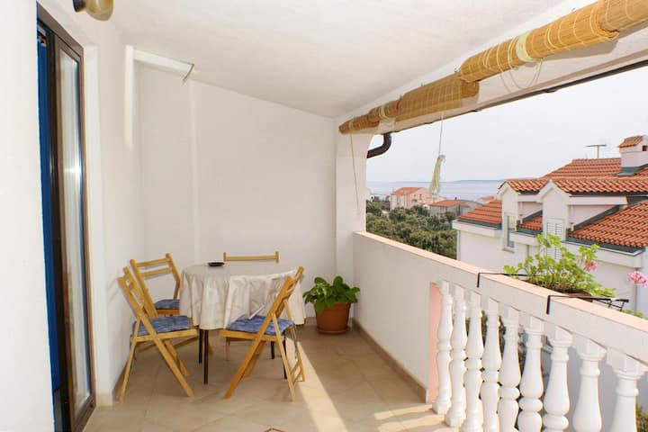 Two bedroom apartment with terrace and sea view Mandre, Pag (A-523-c)