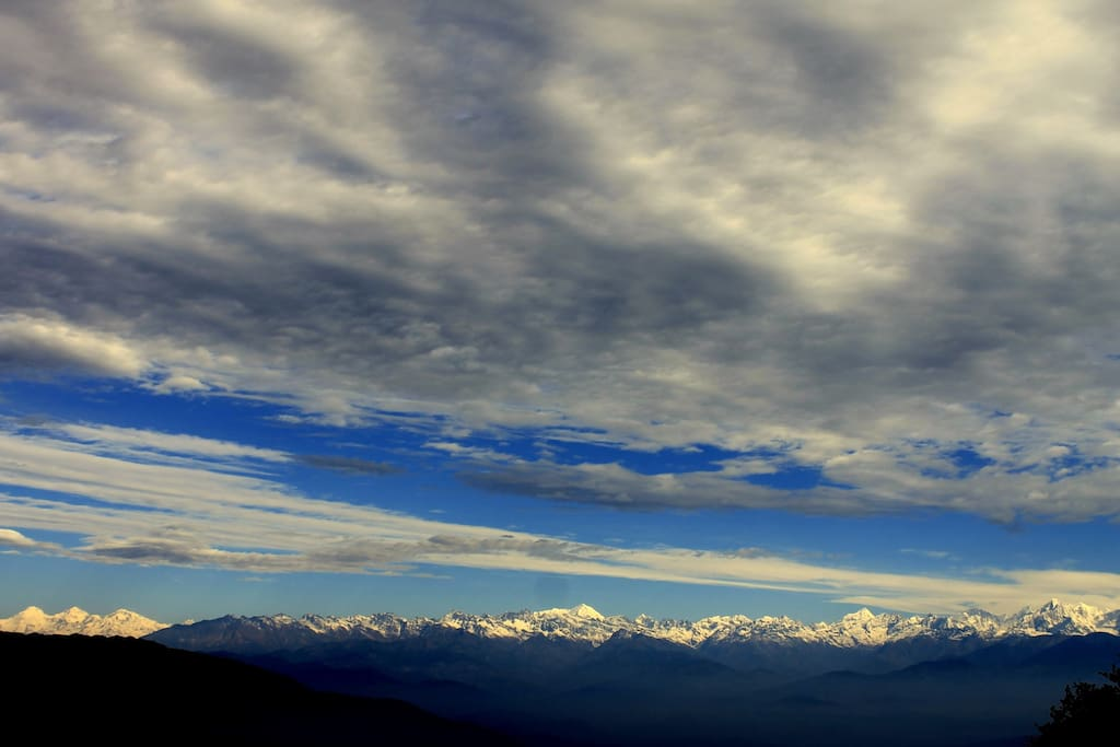 Himalayan View from the village