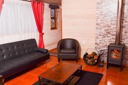 Cabaña nueva, 3 dormitorios, 1 baño, Malalcahuello