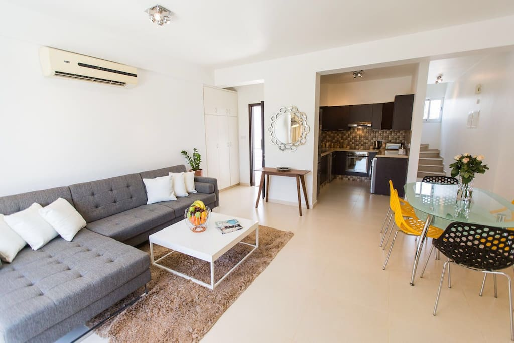 All new furniture and fittings . Sofa bed extends to double bed for two persons.