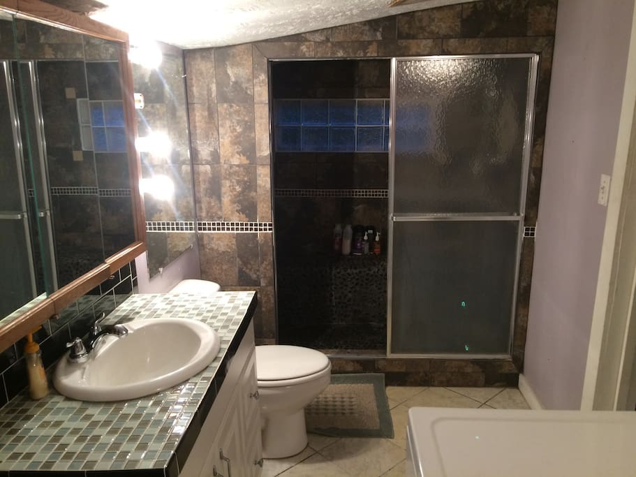 Guest bathroom and laundry room